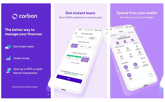 Carbon loan app